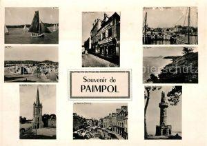 AK / Ansichtskarte Paimpol Voilier Port Vieille Tour Place Vieille Maison Falaise Tour Paimpol