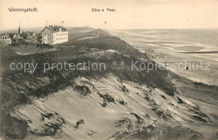 AK / Ansichtskarte Wenningstedt_Sylt Duene und Meer Wenningstedt_Sylt
