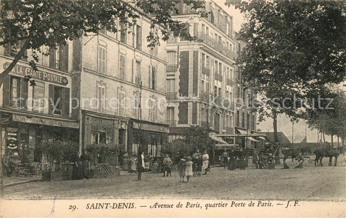 AK / Ansichtskarte Saint Denis_Aude Avenue de Paris quartier Porte de Paris Saint Denis Aude