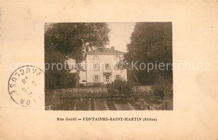 AK / Ansichtskarte Fontaines Saint Martin Rue Gentil Fontaines Saint Martin
