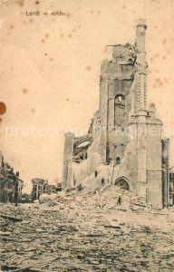 AK / Ansichtskarte Lens_Hainaut Im WK1 zerstoerte Kirche Lens Hainaut