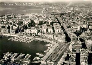AK / Ansichtskarte Marseille_Bouches du Rhone Port et la Ville vue aerienne Marseille