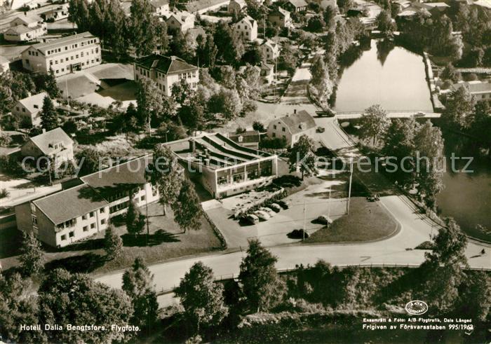 AK / Ansichtskarte Bengtsfors Hotell Dalia Flygfoto Bengtsfors