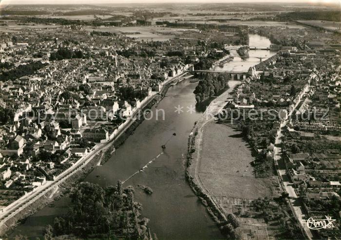 AK / Ansichtskarte Chatellerault La Vienne separant Chatellerault de Chateauneuf Pont Henri IV vue aerienne Chatellerault