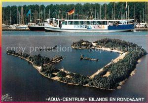 AK / Ansichtskarte Biddinghuizen Aqua Centrum Hafen Eilande en Rondvaart Fliegeraufnahme Biddinghuizen