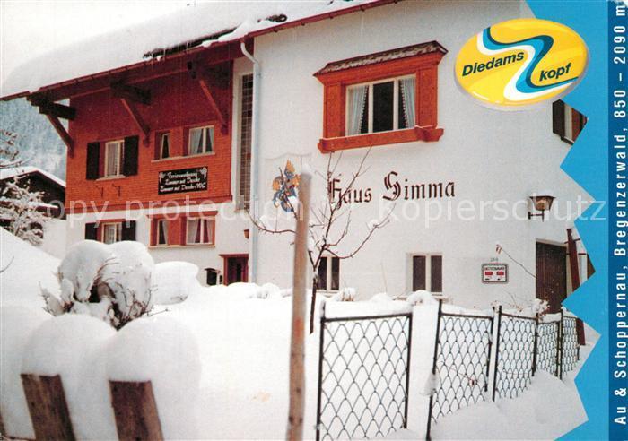 AK / Ansichtskarte Schoppernau_Vorarlberg Haus Simma Schoppernau Vorarlberg