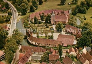 AK / Ansichtskarte Burgsteinfurt Fliegeraufnahme Schloss mit Vorhof Burgsteinfurt