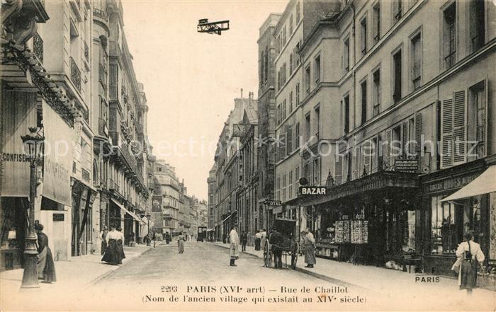 AK / Ansichtskarte Paris Rue de Chaillot  Paris