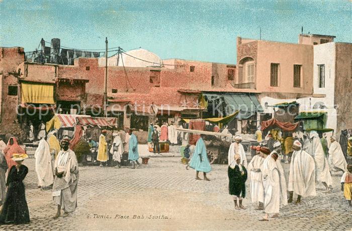 AK / Ansichtskarte Tunis Place Bah Souika Tunis