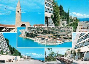 AK / Ansichtskarte Bernardin Turistico hotelsko naselje Hotel Kirche Fliegeraufnahme Bernardin
