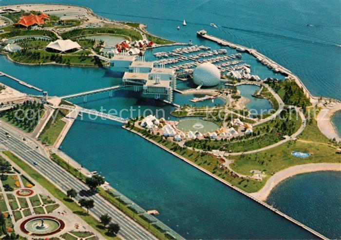 AK / Ansichtskarte Toronto_Canada Ontario Place aerial view Toronto Canada