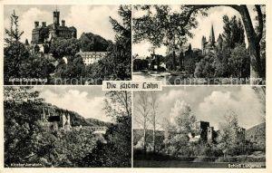 AK / Ansichtskarte Lahntal Schloss Schaumburg Langenau Kloster Arnstein Dom zu Limburg  Lahntal