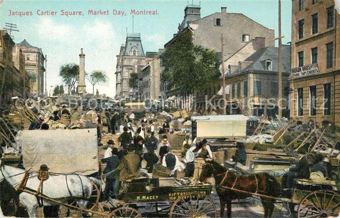 AK / Ansichtskarte Montreal_Quebec Jacques Cartier Square Market Day  Montreal Quebec