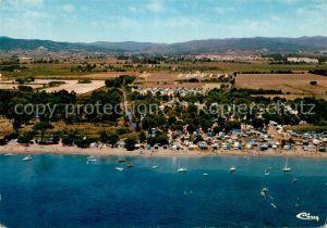 AK / Ansichtskarte La_Londe les Maures Fliegeraufnahme Camping Plage La_Londe les Maures