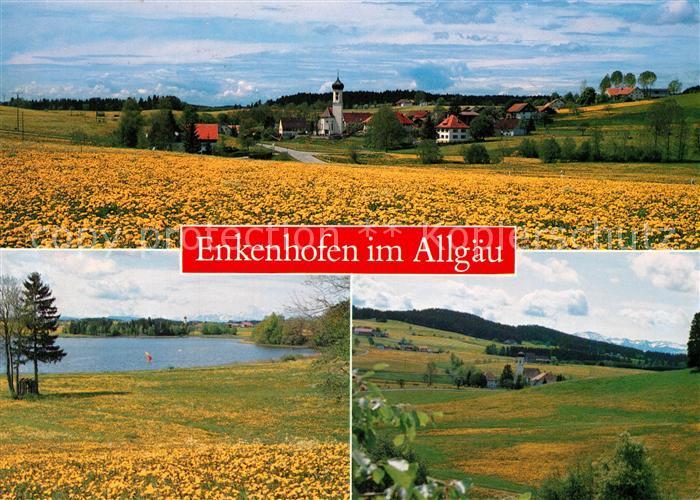 AK / Ansichtskarte Enkenhofen Blick ueber die Felder Landschaftspanorama See Enkenhofen