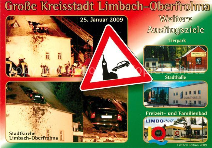 Ak Ansichtskarte Limbachoberfrohna Stadtkirche Tierpark
