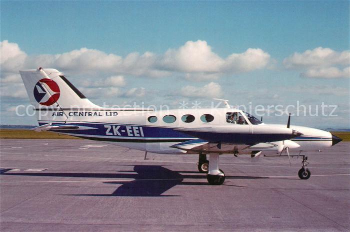 AK / Ansichtskarte Flugzeuge_Zivil Air Central Cessna 402 B ZK EEI  Flugzeuge Zivil