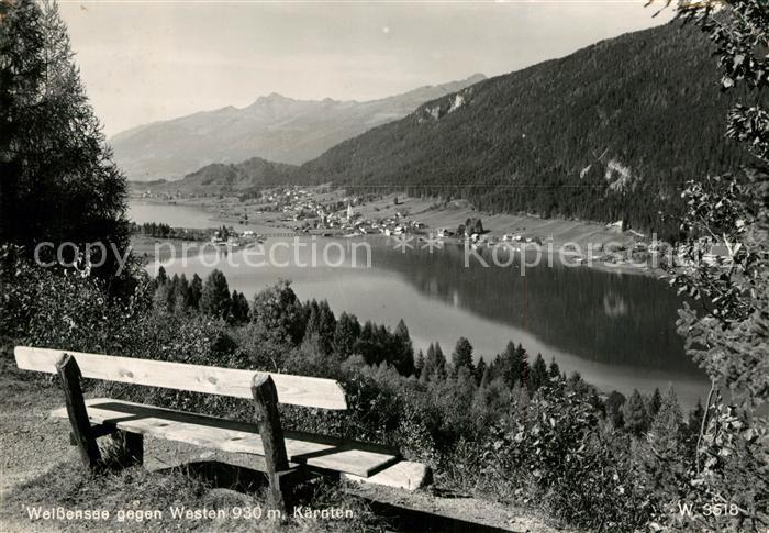 AK / Ansichtskarte Weissensee_Kaernten Panorama Weissensee Kaernten