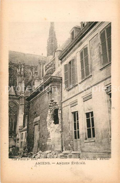 AK / Ansichtskarte Amiens Ancien Eveche Amiens