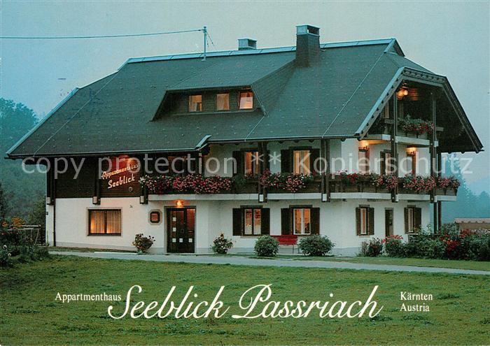 AK / Ansichtskarte Passriach_Pressegger_See Appartmenthaus Seeblick Passriach Passriach_Pressegger_See