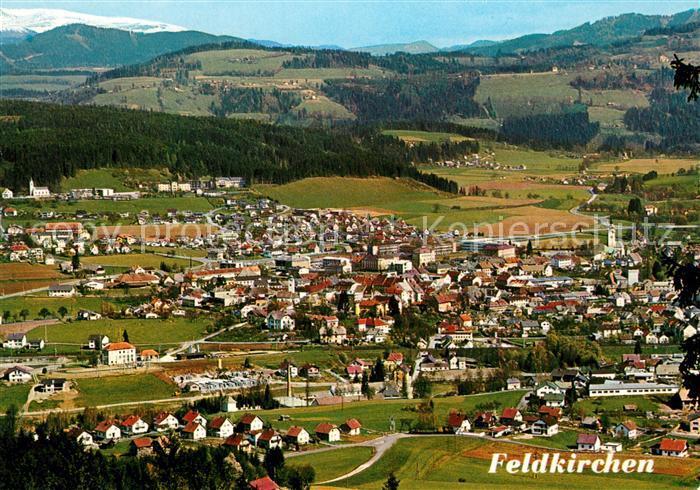 AK / Ansichtskarte Feldkirchen_Kaernten Fliegeraufnahme gegen Waiern und Nockgebiet Feldkirchen Kaernten