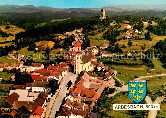 AK / Ansichtskarte Arbesbach_Niederoesterreich Fliegeraufnahme Arbesbach
