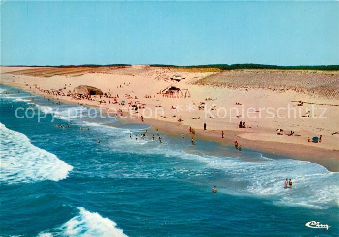 AK / Ansichtskarte Carcans Ocean Fliegeraufnahme Strand Carcans