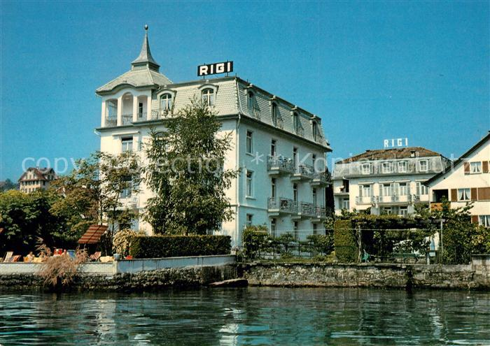 AK / Ansichtskarte Weggis_Vierwaldstaettersee Hotel Rigi am See Weggis_Vierwaldstaettersee