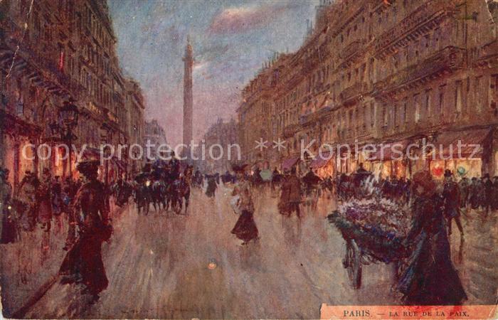 AK / Ansichtskarte Paris La Rue de la Paix Paris
