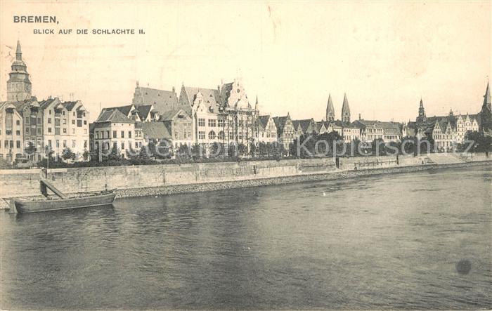 AK / Ansichtskarte Bremen Blick auf die Schlachte II Bremen