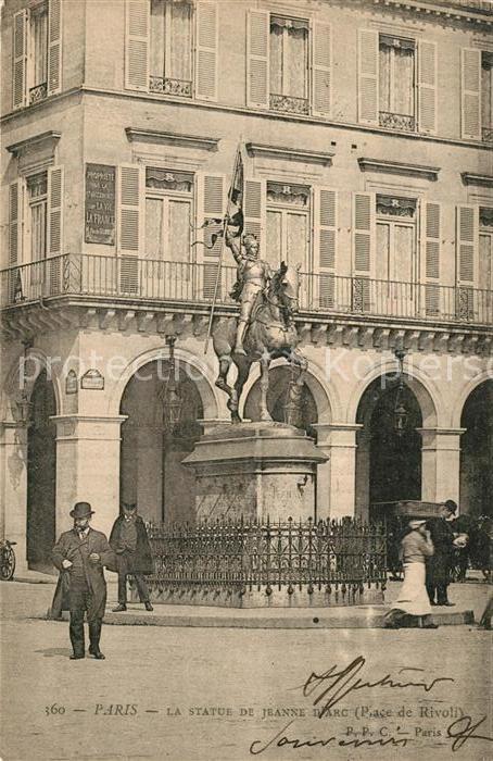 AK / Ansichtskarte Paris Statue de Jeanne d'Arc Place de Rivoli Paris
