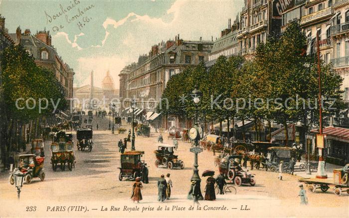 AK / Ansichtskarte Paris La Rue Royale prise de la Place de la Concorde Paris