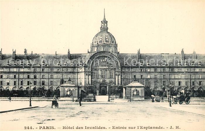 AK / Ansichtskarte Paris Hotel des Invalides Entree sur l Esplanade Paris