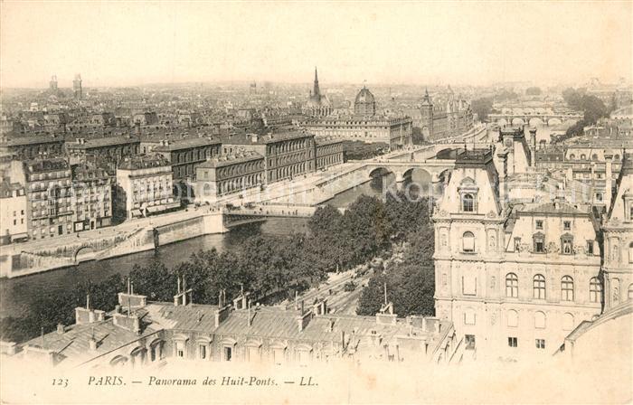 AK / Ansichtskarte Paris Panorama des Huits Ponts Paris
