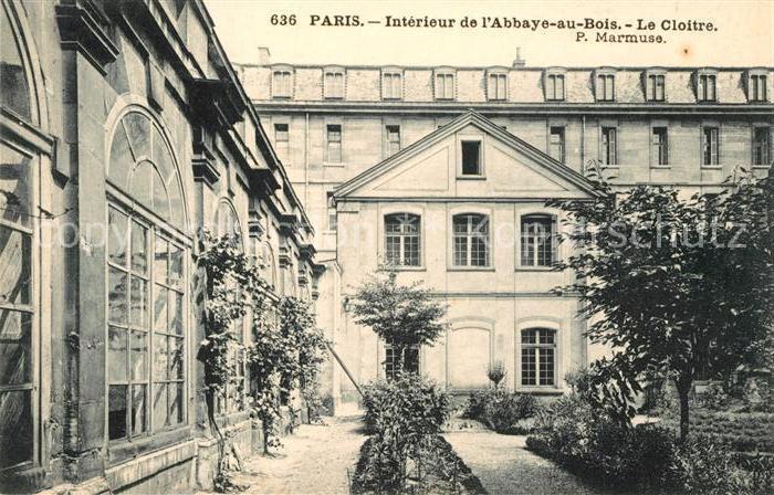 AK / Ansichtskarte Paris Interieur de l'Abbaye au Bois Le Cloitre Paris