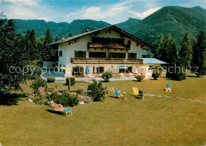 AK / Ansichtskarte Rottach Egern Hotel garni Sonnenhof Liegewiese am Tegernsee Alpen Rottach Egern