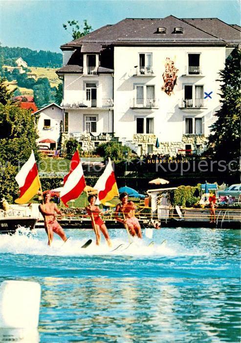 AK / Ansichtskarte Velden_Woerthersee Hotel Hubertushof Wasserski Velden Woerthersee