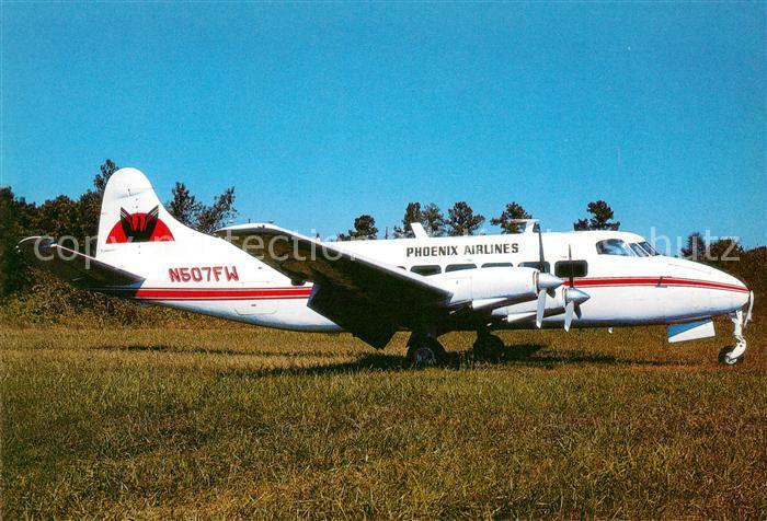 AK / Ansichtskarte Flugzeuge_Zivil Phoenix Airlines DH 114 Heron 2B N507FW  Flugzeuge Zivil