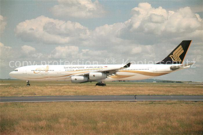 AK / Ansichtskarte Flugzeuge_Zivil Singapore Airline A 340 313 9V SJE C N 149 Flugzeuge Zivil