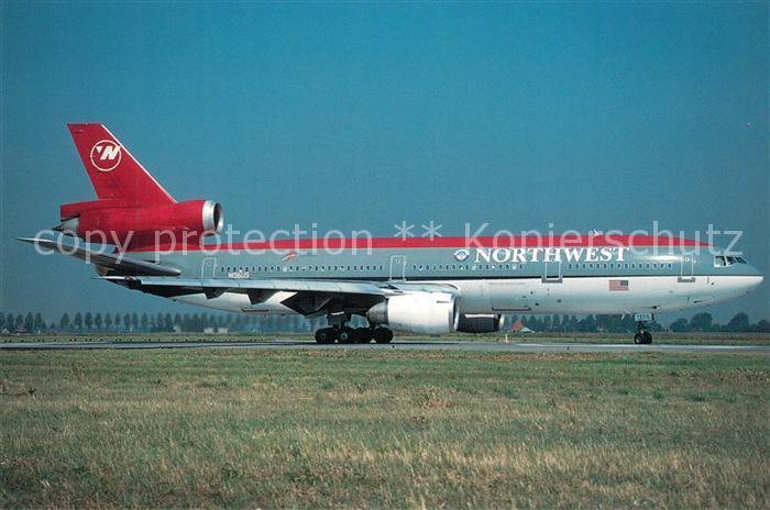 AK / Ansichtskarte Flugzeuge_Zivil Northwest Airlines McDonnell Douglas DC 10 40 N156US Flugzeuge Zivil