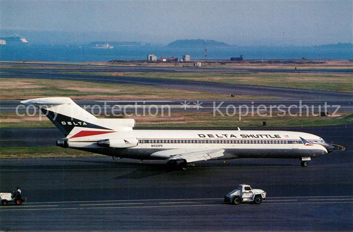 AK / Ansichtskarte Flugzeuge_Zivil Delta Air Lines Boeing 727 227 Advanced N552PE c n 20773 Flugzeuge Zivil