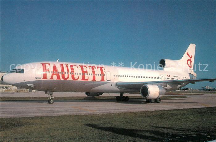 AK / Ansichtskarte Flugzeuge_Zivil Faucett Lockheed L 1011 1 OB 1455 c n 1002 Flugzeuge Zivil