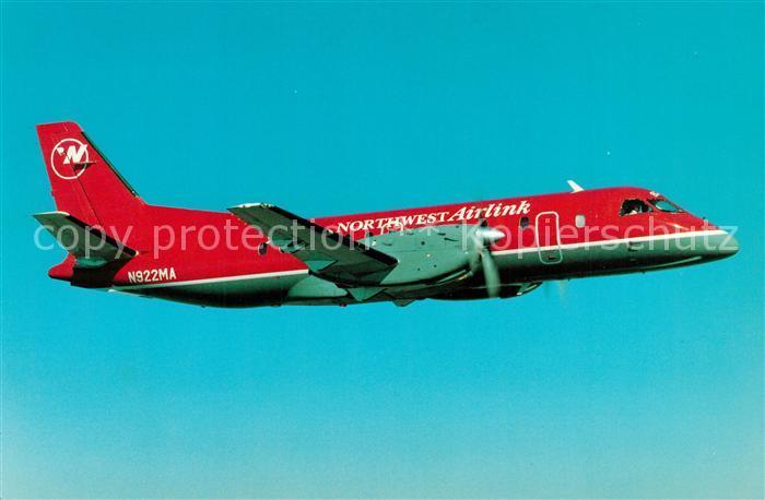 AK / Ansichtskarte Flugzeuge_Zivil Northwest Airlink Express Airlines Saab SF340A N922MA  Flugzeuge Zivil