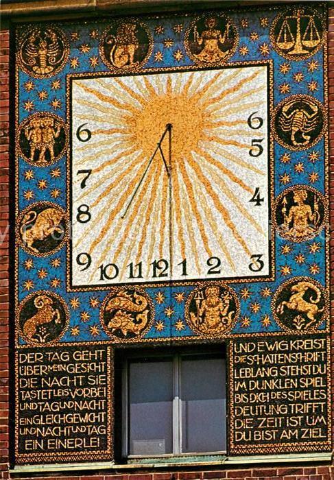 AK / Ansichtskarte Uhren Sonnenuhr Darmstadt Hochzeitsturm  Uhren