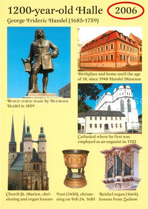 AK / Ansichtskarte Denkmal Georg Friedrich Haendel Geburtshaus Kathedrale  Denkmal