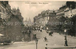 AK / Ansichtskarte Paris Rue Royale Paris