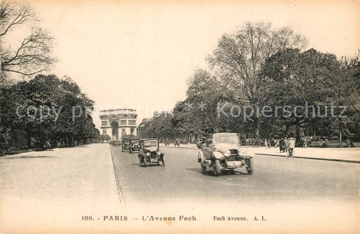 AK / Ansichtskarte Paris Avenue Foch Paris