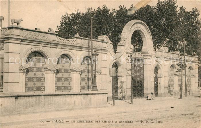 AK / Ansichtskarte Paris Cimetiere des Chiens a Asnieres Paris