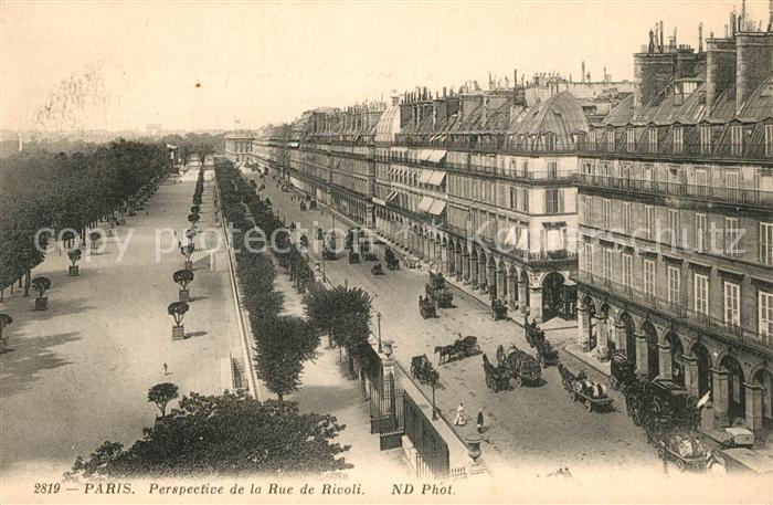 AK / Ansichtskarte Paris Perspective de la Rue de Rivoli Paris