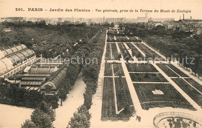 AK / Ansichtskarte Paris Jardin des Plantes Vue generale prise de la Terrasse du Musee de Zoologie Paris